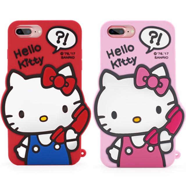 GARMMA Hello Kitty iPhone 8/7/6S/6 4.7吋-立體矽膠果凍套 哈囉凱蒂