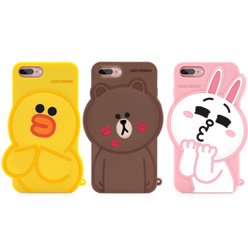 GARMMA LINE Friends iPhone 8/7/6S/6 Plus 5.5吋-立體矽膠果凍套