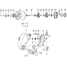 ダイワ(Daiwa) パーツ:シーボーグ400W アイドルギヤ-(A) NO.007 112288