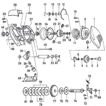 ダイワ(Daiwa) パーツ:TD-lTO 105HL ブレーキダイヤルリテイナー B No008 10F:037