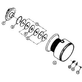 ダイワ(Daiwa) パーツ:スプリンター GL3500糸付 ドラグリング No002 185:052