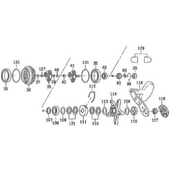 ダイワ(Daiwa) パーツ:レオブリッツ 150 フィッティングパット NO.129 199621
