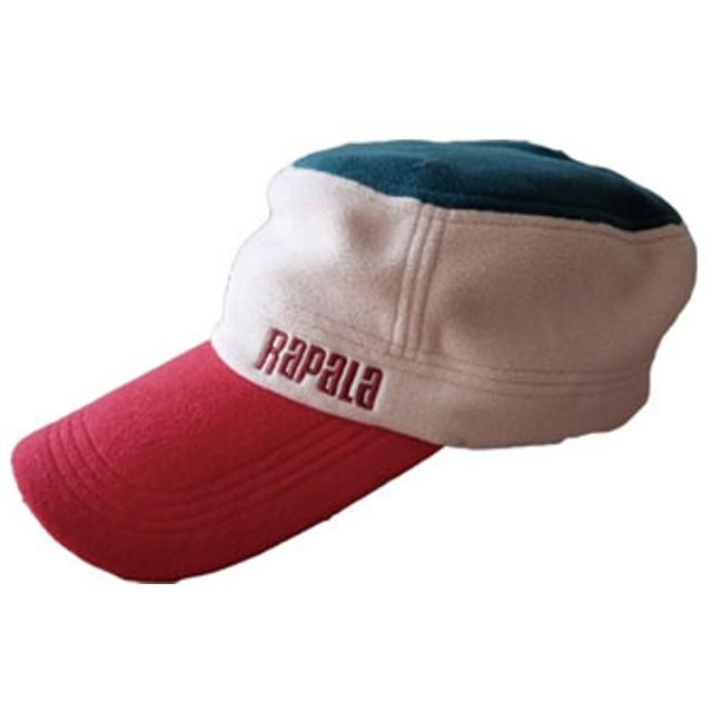Rapala(ラパラ) Fleece Tricolor Warm Cap レッド×ベイジュ×グリーン RC-141RBG