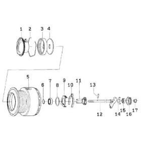 ダイワ(Daiwa) パーツ:EXIST 1003HネイティブC ドラグリング NO.002 185061