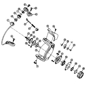 ダイワ(Daiwa) パーツ:スプリンター GL3500糸付 アームレバーSC No022 10A:545