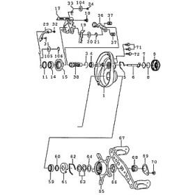 ダイワ(Daiwa) パーツ:TD ジリオン 100P-CC クラッチカムプレートホールドW NO.105 190811
