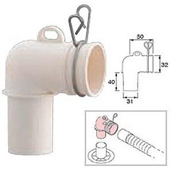 三栄水栓製作所 洗濯機排水トラップエルボ PH554F