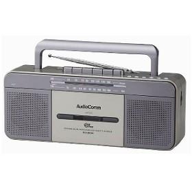 オーム電機 「ワイドFM対応」ラジカセ(ラジオ+USBメモリー+カセットテープ) RCSU800M