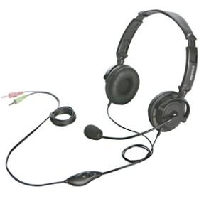 バッファロー 両耳ヘッドバンド式ヘッドセット BSHSH12BK (ブラック)
