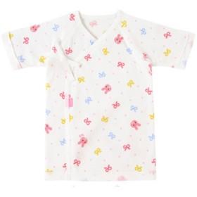 【ホットビスケッツ】キャラクター☆フライス素材の短肌着(60・ピンク)