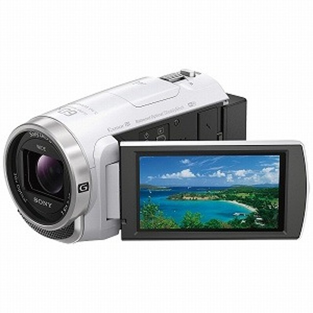 ソニー SONY メモリースティックマイクロ/マイクロSD対応 64GBメモリー内蔵 フルハイビジョンビデオカメラ HDR-CX680(W)(ホワイト)