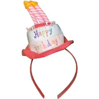 お誕生日カチューシャ(ピンク)【クリアランス】