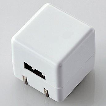 エレコム ELECOM オーディオ用AC充電器/for Walkman/CUBE/1A出力/USB1ポート AVS-ACUAN007WH (ホワイト)