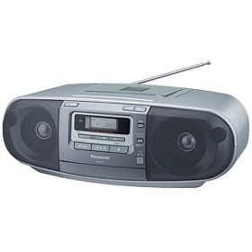 パナソニック Panasonic 「ワイドFM対応」CDラジカセ(ラジオ+CD+カセットテープ) RX-D47-S (シルバー)