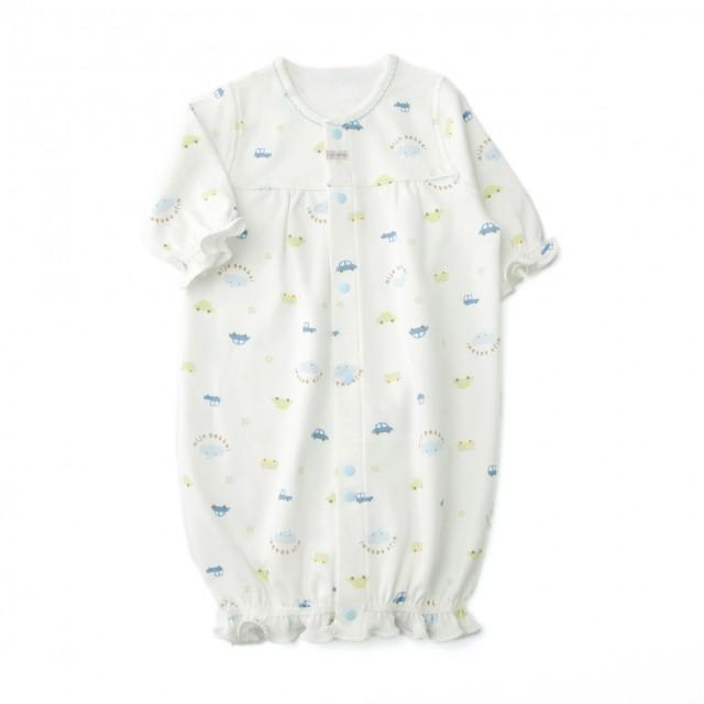 【愛情設計】ベンリードレス(2WAYドレス)☆保湿素材(サックス・50~60cm)オールシーズン用★日本製★