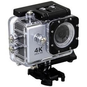 SAC マイクロSD対応 防水ハウジングケース付きアクションカメラ AC600(シルバー)