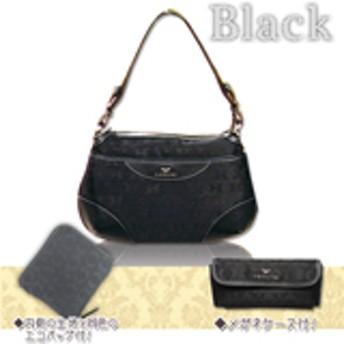 HAMANOジャガード織り斜め掛けバッグ 【ブラック 】