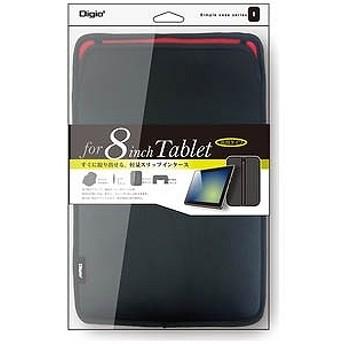 ナカバヤシ 8インチタブレット対応[横幅 230mm] スリップインケース ポケット付き TBC-FC81603BK ブラック