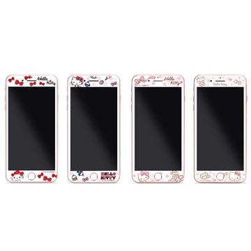 GARMMA Hello Kitty iPhone 7/8 4.7吋-3D曲面珠光鋼化玻璃膜