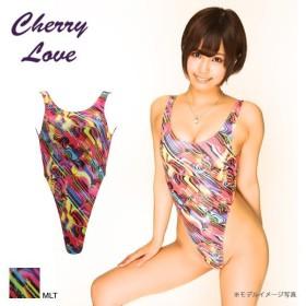 【メール便(15)】 (ラポーム)La-Pomme&(シャーリーオブハリウッド)Shirley OF HOLLYWOOD (チェリーラブ)Cherry Love ハイレグTバックレオタード マーブルラメ