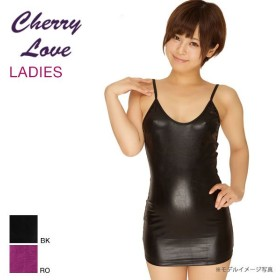 La-Pomme&Shirley OF HOLLYWOOD Cherry Love メタリックボディコン