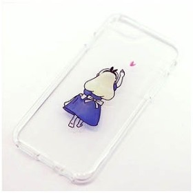 1a5b623f5b ROA iPhone 6s/6用ソフトクリアケース ファンタジー 童話 アリス Dparks DS7365i6S