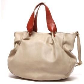 フェス fes KUPU-KUPU Bag in Bag仕様3wayハンドバック(ベージュ)
