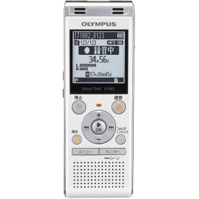 OLYMPUS V-862-WHT ホワイト ボイストレック [ICレコーダー(4GBメモリ内蔵+外部マイクロSDスロット搭載)]