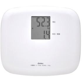 DRETEC BS-164WT ホワイト クラベール [ボディスケール] 体脂肪計・体重計