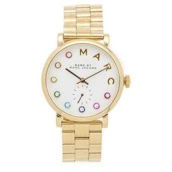 MARC JACOBS MBM3440 ホワイト×クリスタルストーン×ゴールド ベイカー [レディース腕時計] 【並行輸入品】 腕時計(海外メーカー)