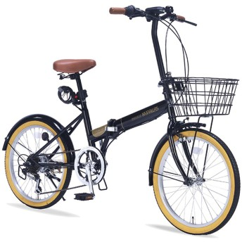 マイパラス M-252-BK ブラック [折りたたみ自転車(20インチ・6段変速)] 折りたたみ自転車・ミニベロ