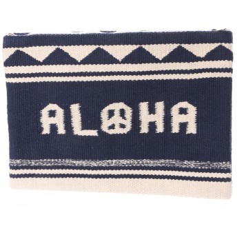 【Kahiko】ALOHAピースクラッチバッグ ネイビー