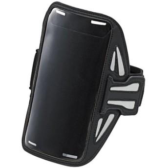 ELECOM P-ABC02BK ブラック [スマートフォン用スポーツアームバンド(Lサイズ)] その他アクセサリ (スマートフォン・iPhone)