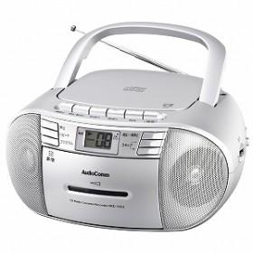 オーム電機 CDラジオカセットレコーダー RCD-550Z-S (シルバー)