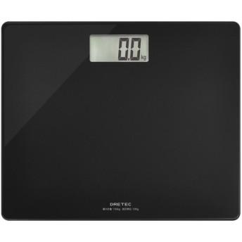DRETEC BS-159BK ブラック グラッセ [体重計] 体脂肪計・体重計