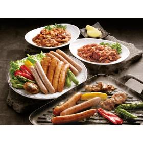 お取り寄せ 国産ポーク焼肉 (味付)とソーセージセット SC-720 セット品(肉)