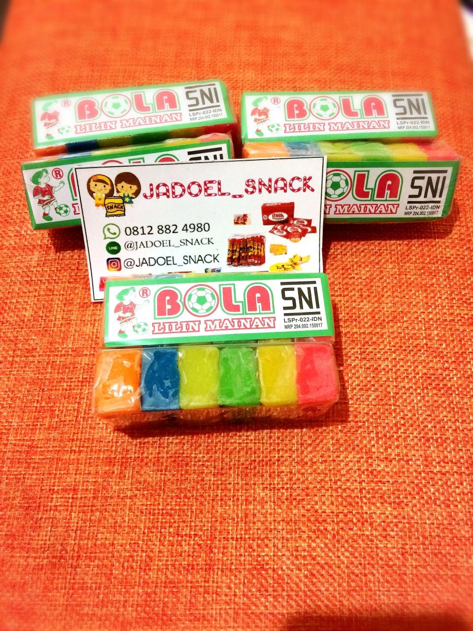 Jadoel Snack Shop Line Permen Sugus Lilin Mainan Cap Bola