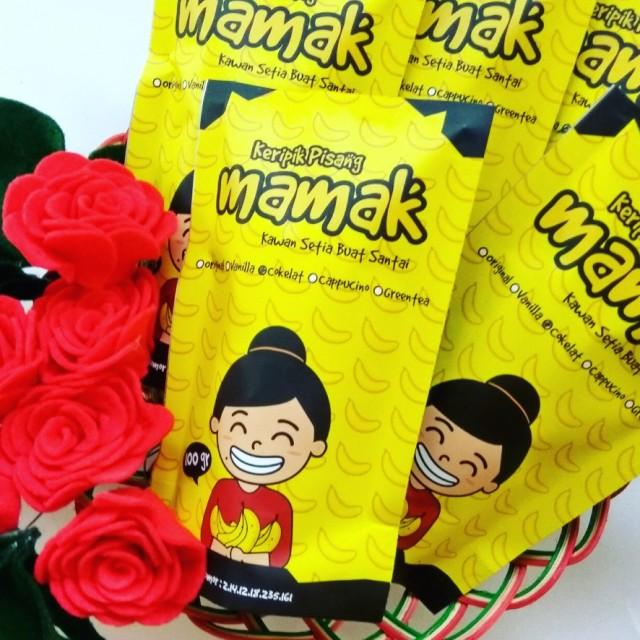 Paket 4 Keripik Pisang Mamak Cokelat: Rp 48.000