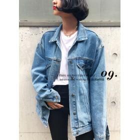 ○雑誌掲載商品○ビッグシルエットデニムジャケット・全3色・46483