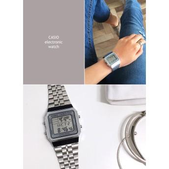 CASIOスクエアヘッドデジタル腕時計・全2色・n45440