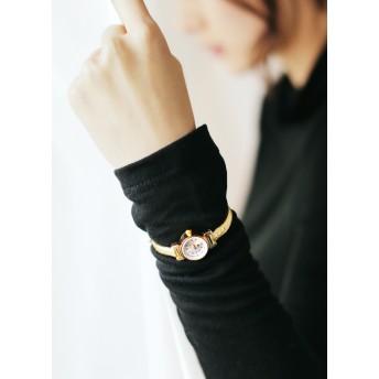 レザーベルトゴールドフレーム腕時計・全5色・n42905