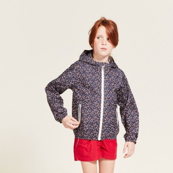 AIGLE キッズ・ベビー キッズ・ベビー 4歳~8歳 透湿防水 プリントポップレイニー レインジャケット ZBJG348 Dotsy print: kd (002) キッズウェア