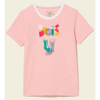 AIGLE キッズ・ベビー キッズ・ベビー 4歳~8歳 吸水速乾 ポップフリージュニア Tシャツ ZTJG499 CHRISTAL ROSE (005) キッズウェア