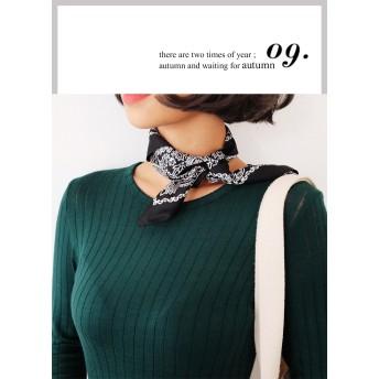 ○多数雑誌掲載商品○シルキーバンダナスカーフ・全5色・d46599