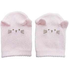 ベビーザらス限定 新生児ジャストサイズミトン 日本製 ピンク(ネコ×FREE)