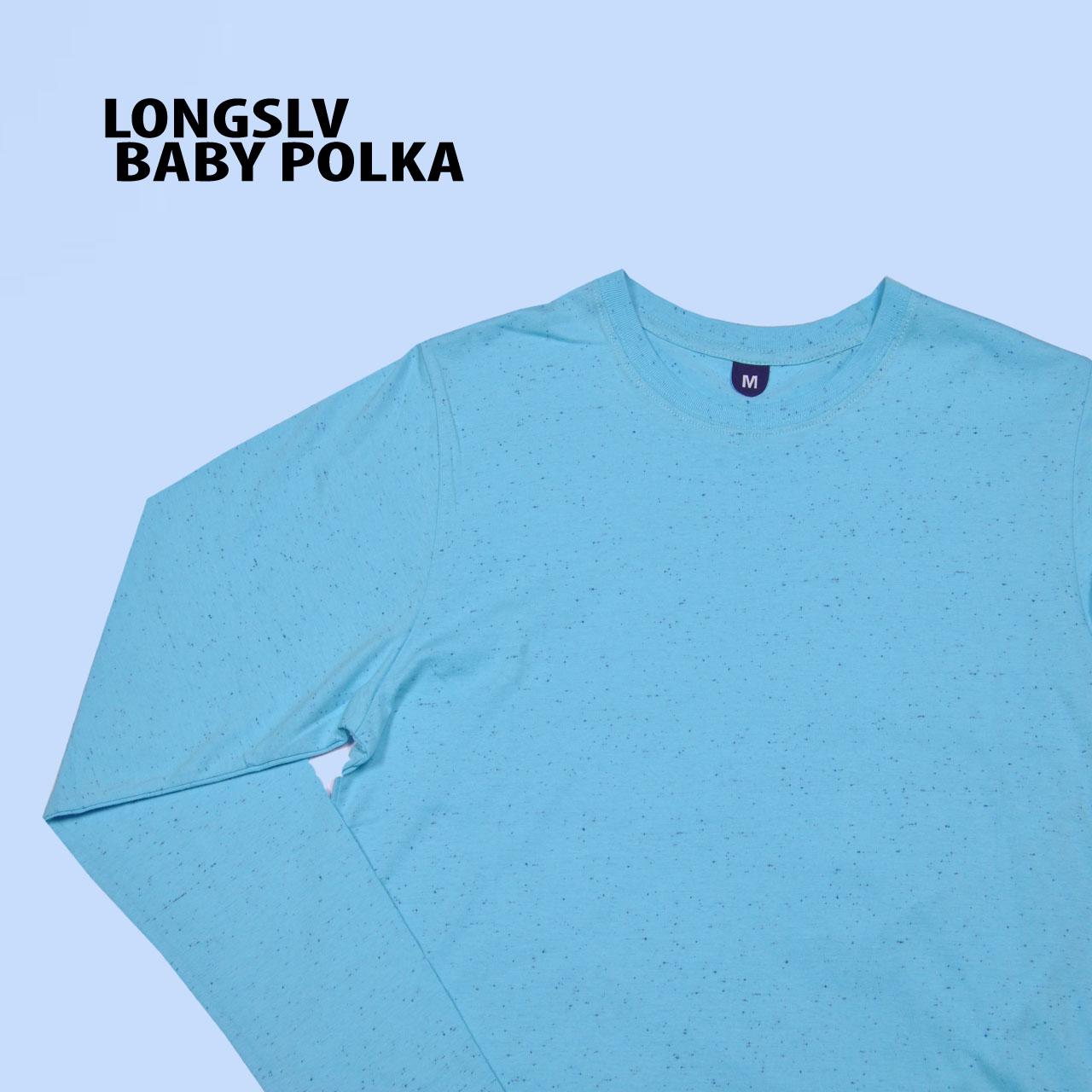 Kaos Polos Bdg 69 Shop Line Twotone Navy Blue Longsleeve Baby Polka Unisex
