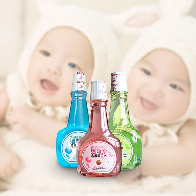 (外瓶小凹)速可淨兒童漱⼝水500ml