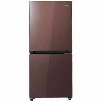 ハイセンス 2ドア冷蔵庫(134L・右開き) HR-G13A-BR ガラスブラウン