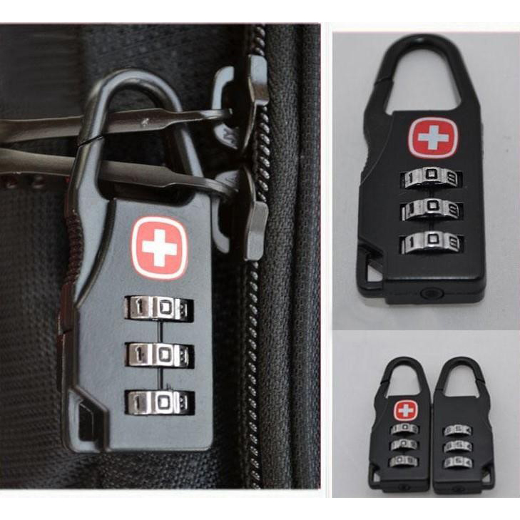 Swiss Gembok Koper Kode Angka / Swiss Password Code Lock Kunci Koper Kombinasi Angka Travel Bag