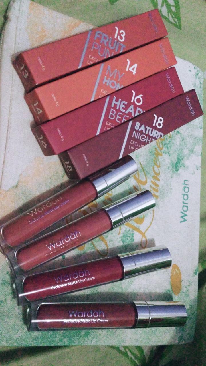 Seveneighthings Shop Line Lipstick Wardah Exclusive Matte Lip Cream Saturdate Night No18